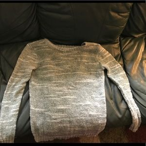 Gray Open Back Sweater